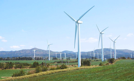 Futamata wind farm (located at Aomori) , photograph offered by JWD